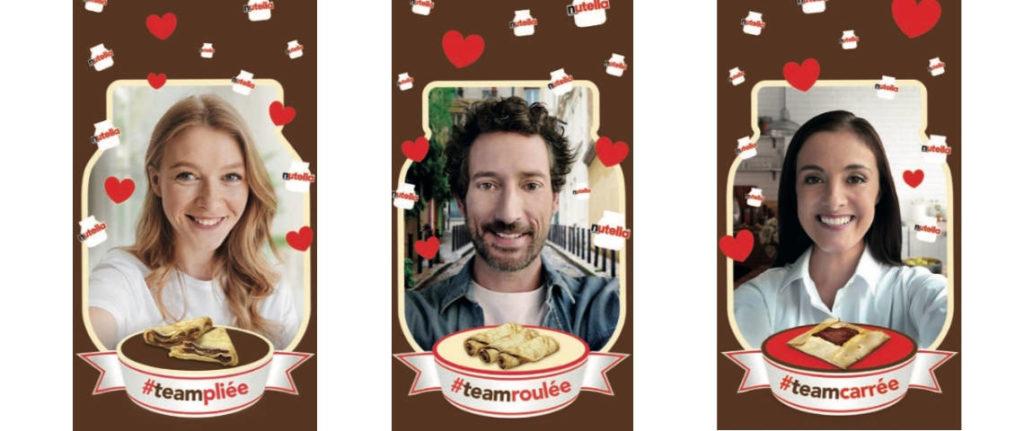 Filtres Facebook/SnapChat pour Nutella/Ferrero